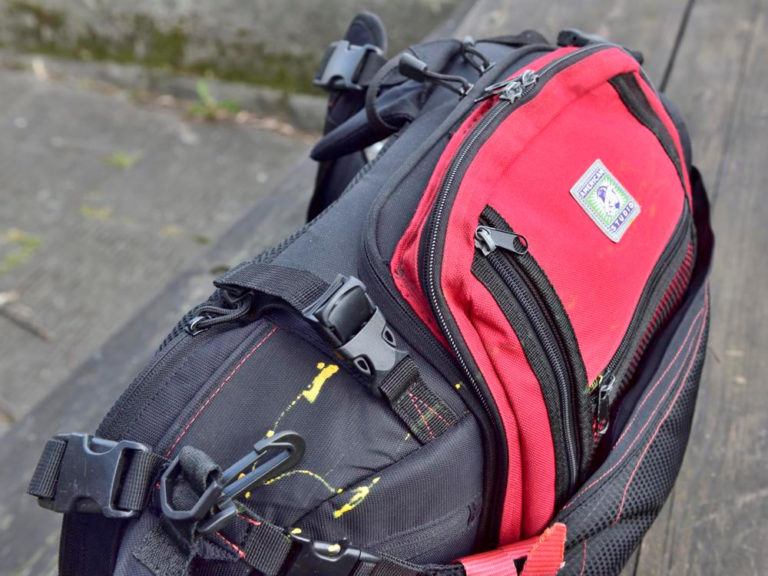 Modified camera bag with rucksack