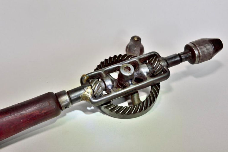 Repaired hand drill.